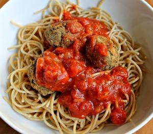 Spaghetti w Eggplant Meatballs